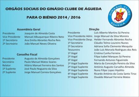 Orgãos Sociais 2014-2016