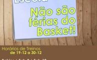 Basquetebol | Horários de treinos nas férias escolares