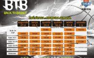Basquetebol | Horários da pré-época - semana 1