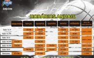 Basquetebol | Horários anuais época 2018/19