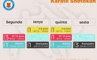 Karaté | Horários da Época 2018/2019