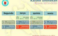 Karaté Shotokan | horários época 2019/2020